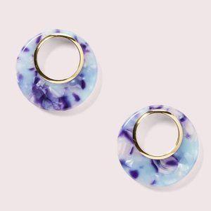 NEW Kate Spade On The Dot Hoop Stud Earrings